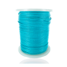 wax cord 1mm cotton light blue turquoise round
