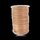 wax cord 1mm cotton natural cream round