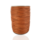 wax cord 1mm cotton terracotta brown round