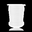 wax cord 1mm cotton white round