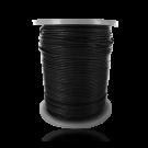 wax cord 1mm cotton black round