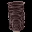 wax cord 2mm cotton dark brown round