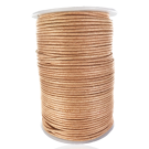 wax cord 2mm cotton natural cream round